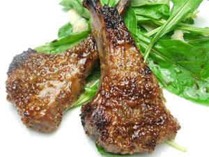 ラム肉のハニーマスタード焼き